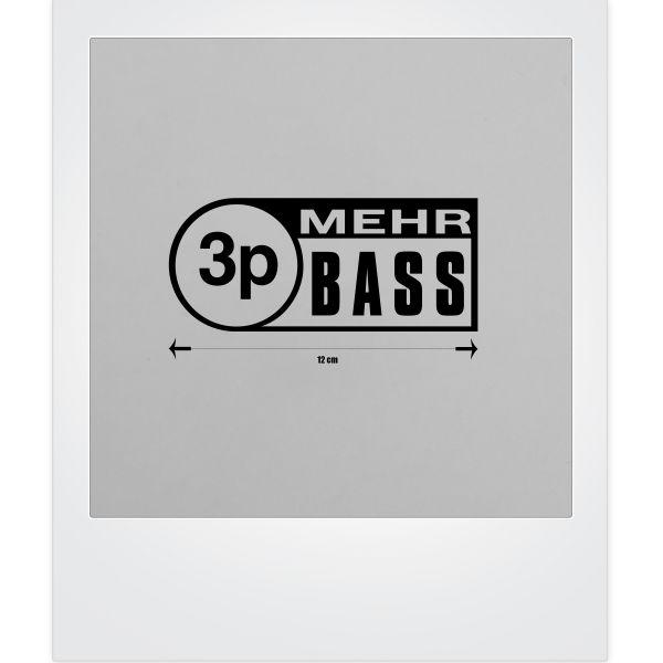 3p Mehr Bass-Sticker in schwarz